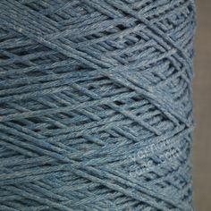 Soft Italian double knitting DK cotton yarn on cone -  denim jeans