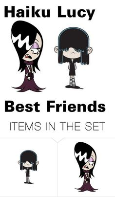 """""""lucy loud haiku best freinds"""" by mhenneberry on Polyvore featuring art"""