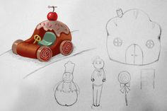 Children's drawings for a new stop-motion film from Children's Animation Workshop. Their sketches are painted over by artist Ingebjørg Faugstad Mæland. Stop Motion, Workshop, Sketches, Animation, Culture, Christmas Ornaments, Film, Holiday Decor, Children