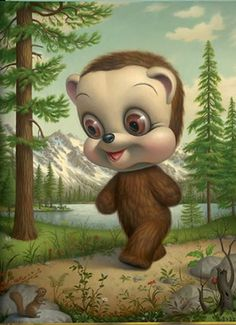 Mark Ryden: California Brown Bear {this one is so creepy yet cute to me}