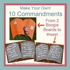 Make Your Own 10 Commandments Tablets