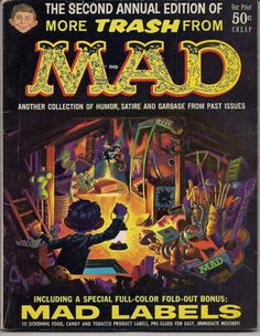 Lots of great HARVEY KURTZMAN, JACK DAVIS, WILL ELDER, WALLY WOOD and others in out of print volumes, limited editions, collections, classic books, magazines & comics available like this one: More TRASH from MAD MAGAZINE #2 1959 with lables at QualityComicsAmerica