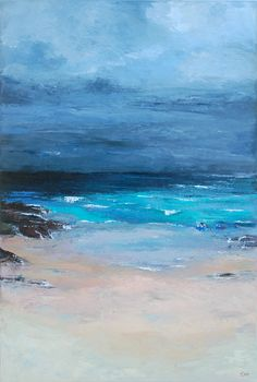 Acrylmalerei: Abstrakte Landschaft 1, Wandbild, Dekoration, Gemälde, Landschaft