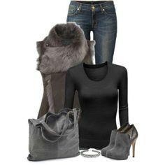 That fur collar coat!