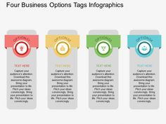 Four Business Options Tags Infographics Powerpoint Template - PowerPoint…