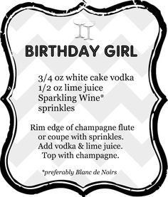 Birthday Girl cocktail... Finally a use for my cake vodka!