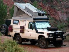 Toyota Land Cruiser pop up, diesel, Land Cruiser 70 Series, Land Cruiser 80, Toyota Land Cruiser, Motorcycle Camping, Camping Gear, Outback Campers, 4x4, Small Rv, Adventure Campers