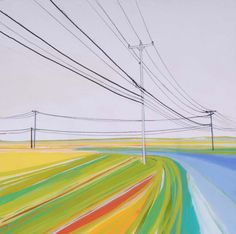 Scuttle Hole Road acrylic, marker, pencil on wood panel private collection