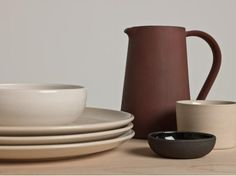 """Deceptively simple pottery from Another Country, founded by Wallpaper alum Paul de Zwart. De Zwart& intention is to create """"well-made, well-priced design Rustic Style, Modern Rustic, Objet Deco Design, Country Dinner, Country Uk, Country Living, Chaise Vintage, Stoneware Dinnerware, Tabletop Accessories"""