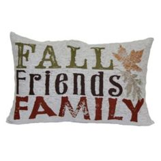 Celebrate+Fall+Together+''Fall,+Friends,+Family''+Oblong+Throw+Pillow