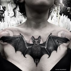 Bat and moons by Ryan Murray (@ ryanmrray)