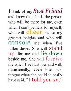 Wedding Present Shes My Best Friend Lyrics : ... about Best Friend on Pinterest Best friends, My best friend and Bff