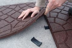 Envirotile, recycled outdoor tiles to cover a deck or patio