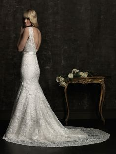 Allure Bridal--looks like you Em! Diamond Wedding Dress, Lace Back Wedding Dress, 2nd Wedding Dresses, Wedding Dress Sizes, Bridal Dresses, Bridesmaid Dresses, Bridesmaids, Wedding Outfits, Bridal Gown