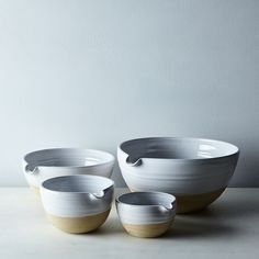 Pantry Mixing Bowls by Farmhouse Pottery | Food52 | $325 set of 4