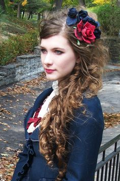 Your Information To The Fashionable Gothic Coiffure - Steampunk Hairstyles For Lengthy Hair. 1800s Hairstyles, Steampunk Hairstyles, Victorian Hairstyles, Vintage Hairstyles, Wedding Hairstyles, Homecoming Hairstyles, Party Hairstyles, Retro Updo, Medium Hair Styles