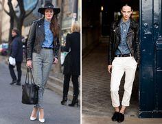 STREETSTYLE: DENIM SHIRTS | My Daily Style en stylelovely.com