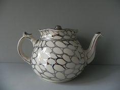 vintage English silver teapot