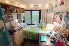 """Name: Madeline Hofmaier.  Year: Freshman.  Major: Theater design and technology.  Dorm: Boland Hall.  Decorating style: Boho.  """"My mom is an..."""