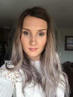 Pravana Silver. Searching for ways to maintain this color. Thinking Manic Panic Blue Steel might do the trick? #pravana #silverhair #manicpanic #bluesteel