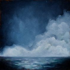 Seascape painting original oil painting cloud by Stormscapestudio, $74.00