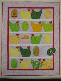 Easter quilt - very cute.