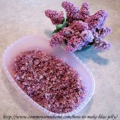 Lilac jelly and candied flowers. (works with any edible flower):