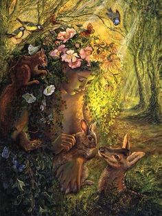 Josephine Wall Art trees the wood nymph Print oil painting on canvas Josephine Wall, Fantasy World, Fantasy Art, Art Expo, Wood Nymphs, Illustrations, Fairy Art, Magical Creatures, Forest Creatures