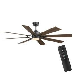 Unique Ceiling Fans, Ceiling Fan With Remote, Outdoor Ceiling Fans, Glass Light Shades, Black Ceiling Fan, Living Room Light Fixtures, Brushed Nickel Ceiling Fan, Color Changing Lights, Dimmable Led Lights