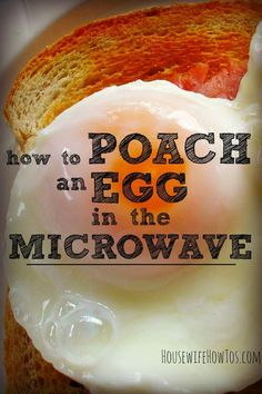 If you love poached eggs, but dislike traditional cooking methods, you'll enjoy knowing how to poach an egg in the microwave. It's easy to do!