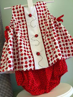 """Pattern is """"Frannie Baby"""" by The Children's Corner. The front panel pattern…"""
