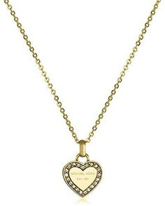 Special Valentines Day Gift for Her Michael Kors Love Heart Pendant Necklace New #MichaelKors