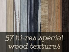 Pack of 57 hi-res special wood textures. Great for backrounds, mockups, special effects etc.– 300 dpi, 4288x2848 px– .jpg files in .rar archive– 487 MB to download