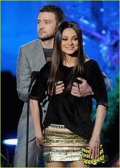 Mila Kunis Grabs Justin Timberlake's Crotch: Photo Mila Kunis and Justin Timberlake grope each other on stage during the 2011 MTV Movie Awards held at Universal Studios' Gibson Amphitheatre on Sunday (June in… Mila Kunis Tumblr, Mila Kunis Pics, Hollywood Actresses, Indian Actresses, Actors & Actresses, Hollywood Celebrities, Mtv Movie Awards, Justin Timberlake, Emma Watson Sexiest