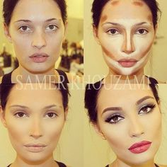 Make-up diy. My thoughts , really this is false advertising , no?! Dude picks up chick on the Bttm right , wakes up to top left lol ..
