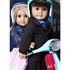 American Girl Doll Custom Tenth Doctor Who and Rose Tyler - kingsgirl1015's photo on Instagram