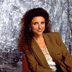Elaine Benes From Seinfeld Pop Culture Halloween Costume, Halloween Costumes, Halloween 2017, Elaine Benes, 90s Pop Culture, Dark Curly Hair, Julia Louis Dreyfus, Easy Costumes, Costume Ideas