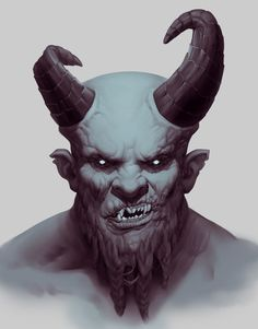 Mountain men concept, without the pointed ears Devil Tattoo, Dark Tattoo, Tattoo Man, Ange Demon, Demon Art, Character Portraits, Character Art, Character Design, Monster Concept Art