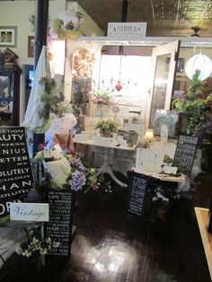 https://www.facebook.com/AnnMarieHeathCustomFlorals?ref=hl    Newest Display French Country Shabby Chic at Ann Marie's Gifts and Home Decor in Beaverton MI