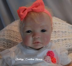 """Reborn Babies for Sale, Reborn Babies, Reborn Dolls.  Shyann is 19"""" has a soft body and 3/4 arms and 3/4 legs.  She wears newborn and size 0 shoe."""