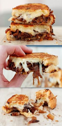 French Onion Soup Grilled Cheese - This site has 30 different grilled sandwich recipes!