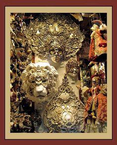 Photograph Masks  CARNIVAL GOLDEN ORNATE by LovesParisStudio, $30.00