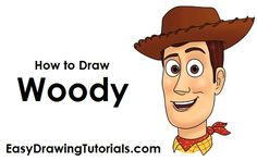 Learn how to draw Woody from Disney Easy Disney Drawings, Disney Character Drawings, Easy Drawings, Drawing Disney, Easy Drawing Steps, Step By Step Drawing, Woody, Dibujos Toy Story, Toy Story Coloring Pages