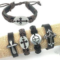 4pcs Handmade Peace Cross Alloy Metal Charms Genuine by jewelrygo, $4.99