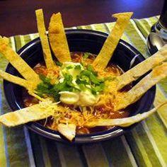 Chicken Tortilla Soup!...(Crock Pot)