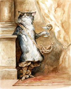 Puss in boots    Flora Thompson via Sharolyn Marie onto Lions & Tigers & Bears oh my! -folk art & art dolls