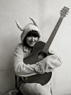 karen o wearing max's costume from where the wild things are. adorableness.
