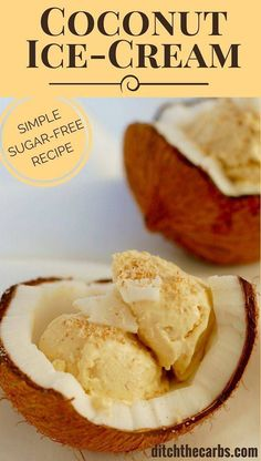 How easy is this sugar free coconut ice cream recipe? No ice cream maker is required, and you could be eating this by tonight. | ditchthecarbs.com