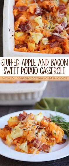 Stuffed Apple and Bacon Sweet Potato Casserole