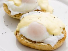 Eggs Benedict Recipe with Healthy Holliandaise Sauce Recipe. Must try for hubby.